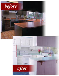 Cabinet And Countertop Refinishing Before And After
